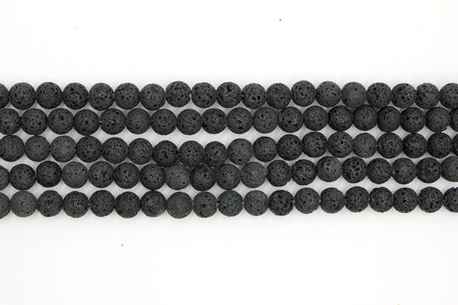 unwaxed lava 8mm, essential oil beads, black lava, round beads, gemstone beads, 8mm beads, unwaxed beads,