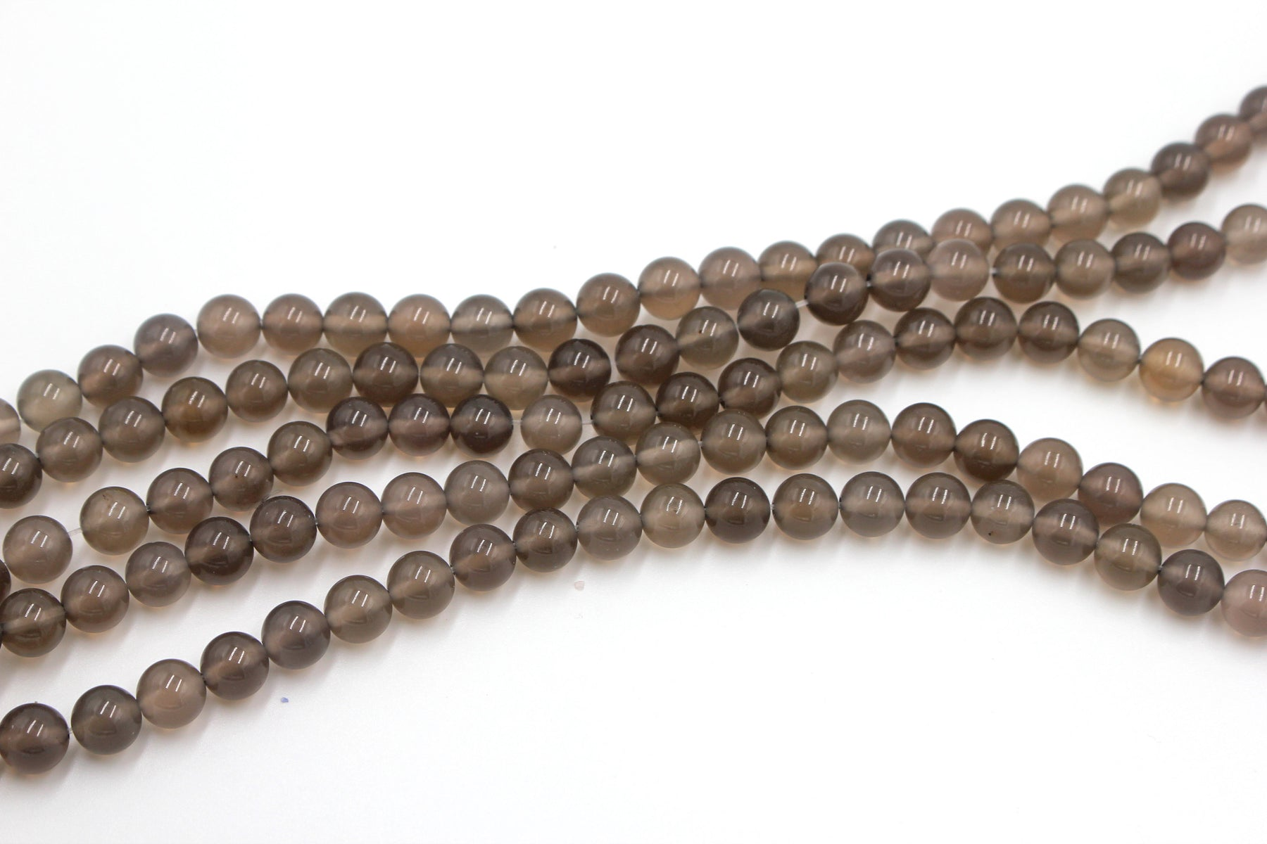 8mm gray agate beads