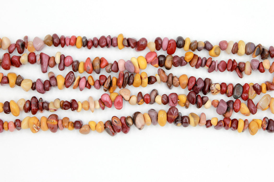 mookaite chip beads, natural gemstone chip beads, 5x8mm, chip beads, poppy jasper, jasper beads, irregular pebble nugget chips beads