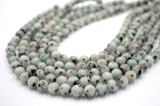 lotus jasper 8mm, spotted beads, A grade, approx 48 beads per strand, jewelry making, gemstone beads, round, glossy,