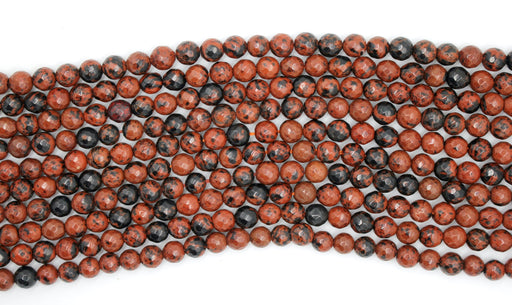 Mahogany Obsidian Gemstone Beads, 6mm, Faceted