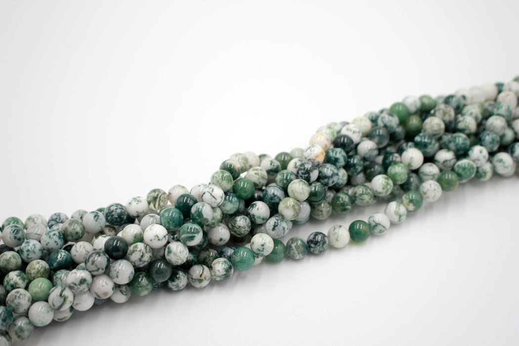 8mm tree agate beads