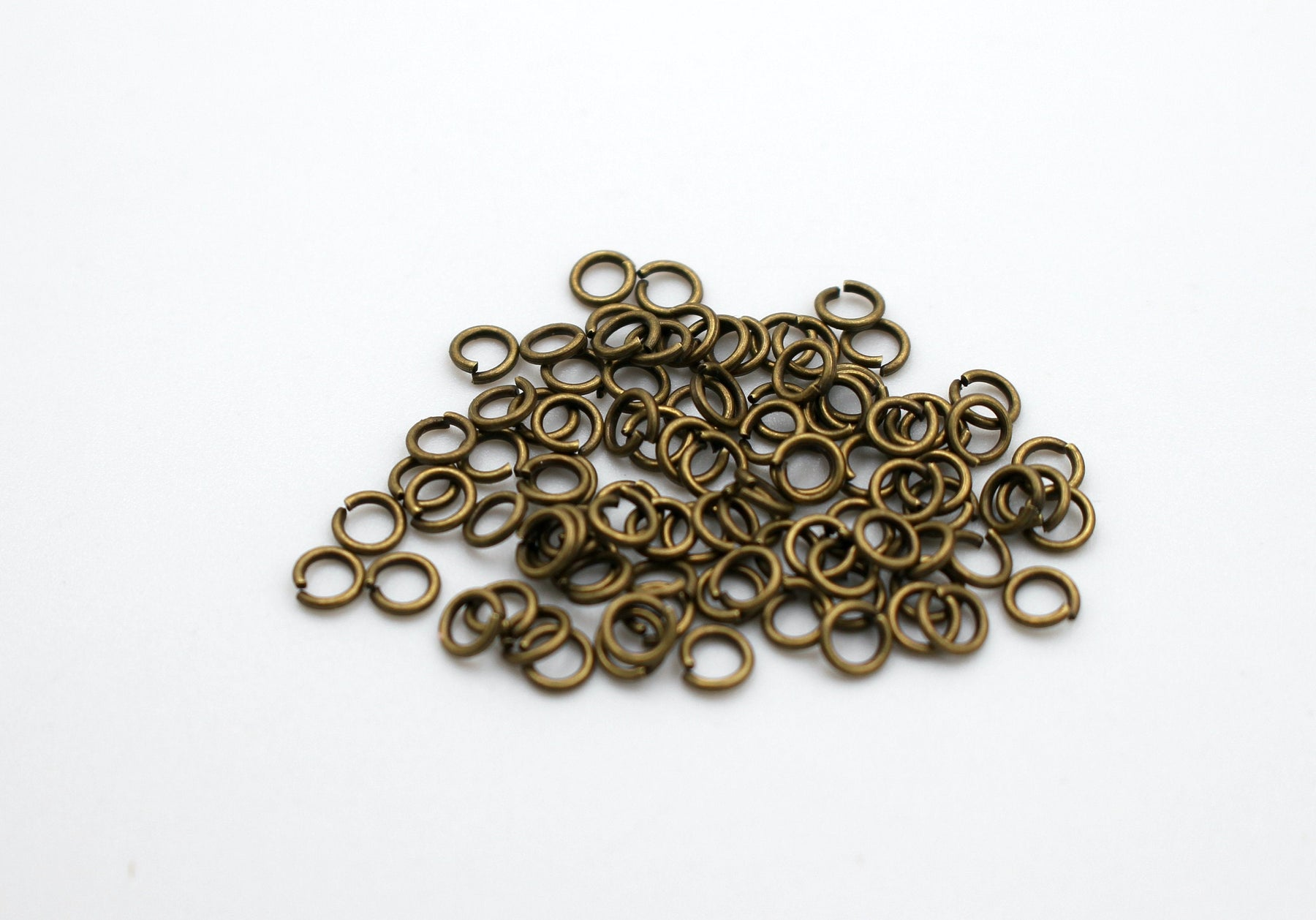 50 pieces, 4mm bronze jump rings, open jump rings, bronze connector, bulk bronze jump rings, bulk jump rings