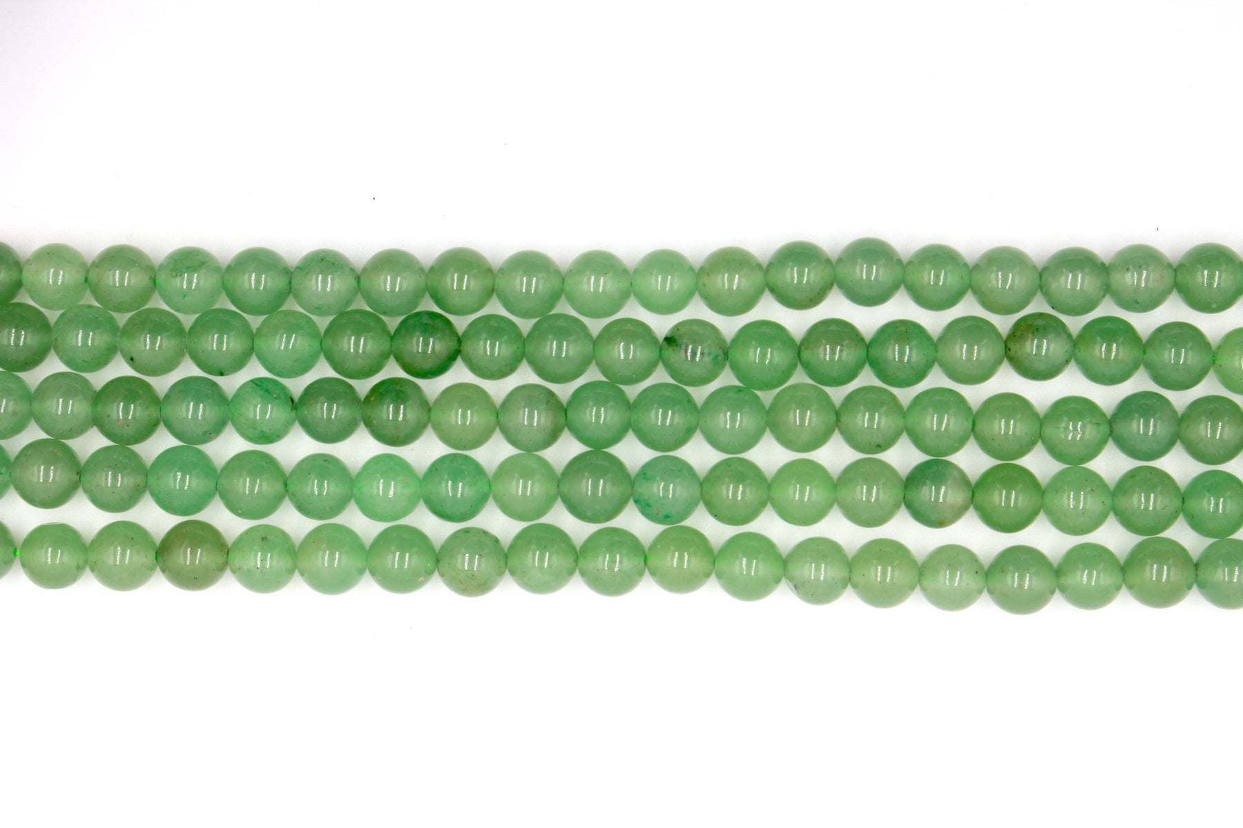 8mm green aventurine, round, glossy beads, 1 strand, 16 inches, approx. 48. beads.