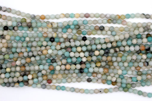 Multicolor Amazonite Gemstone Beads, 6mm, Round