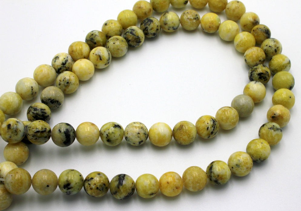 10mm yellow turquoise beads