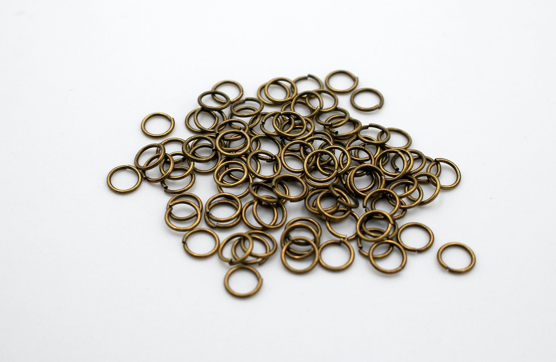 50 pieces, 6mm bronze jump rings, open jump rings, bronze connector, bulk bronze jump rings, bulk jump rings