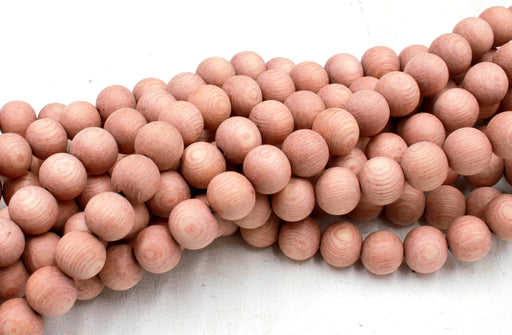 10mm raw rosewood beads