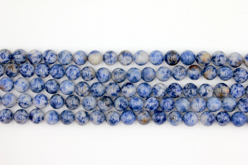 8mm sodalite, glossy, 1 strand, 16 inches, approx. 48 beads.