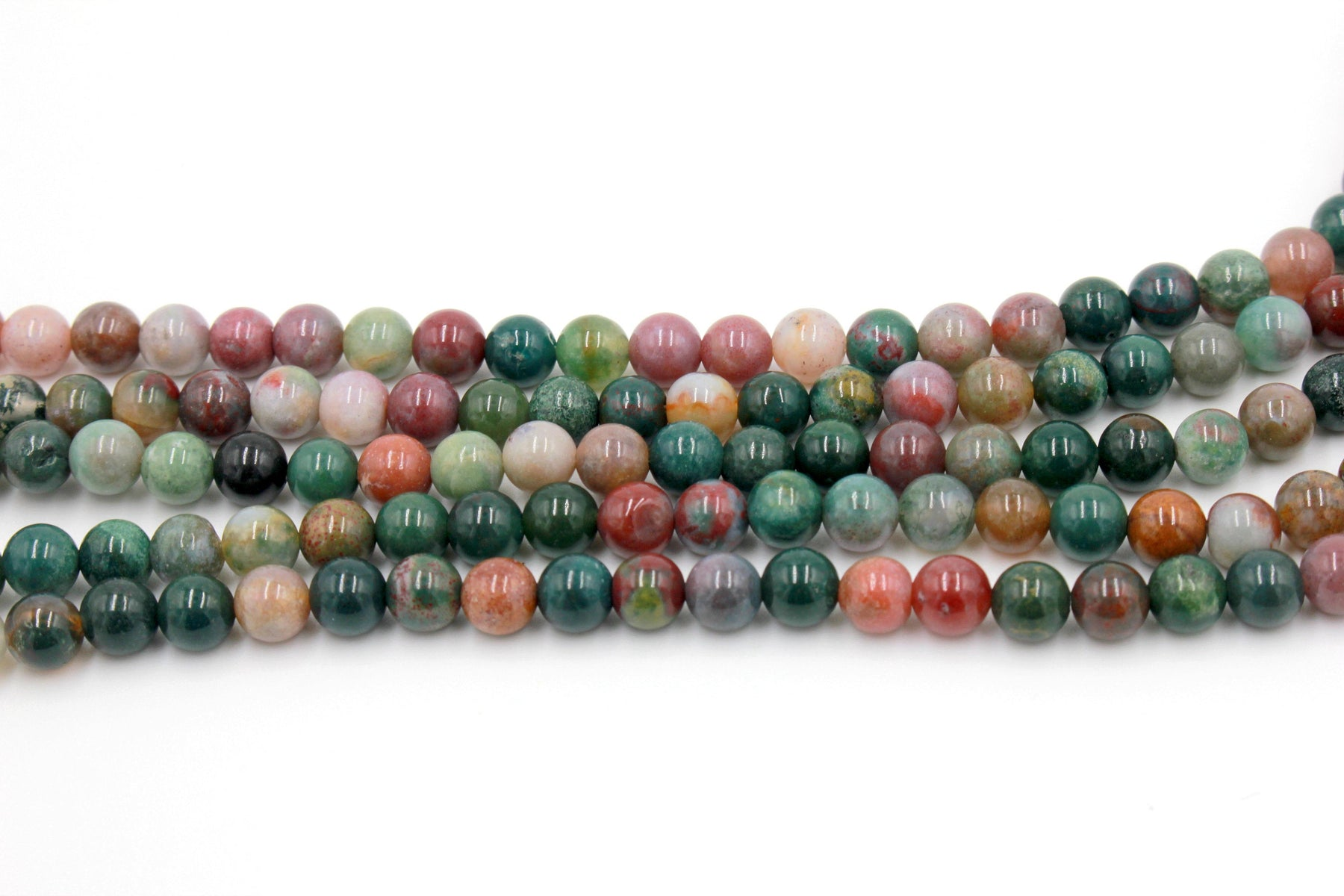 6mm fancy jasper, glossy, 1 strand, 16 inches, approx. 66 beads.