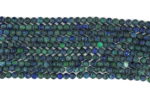 Matte Chrysocolla Gemstone Beads, 6mm, Round