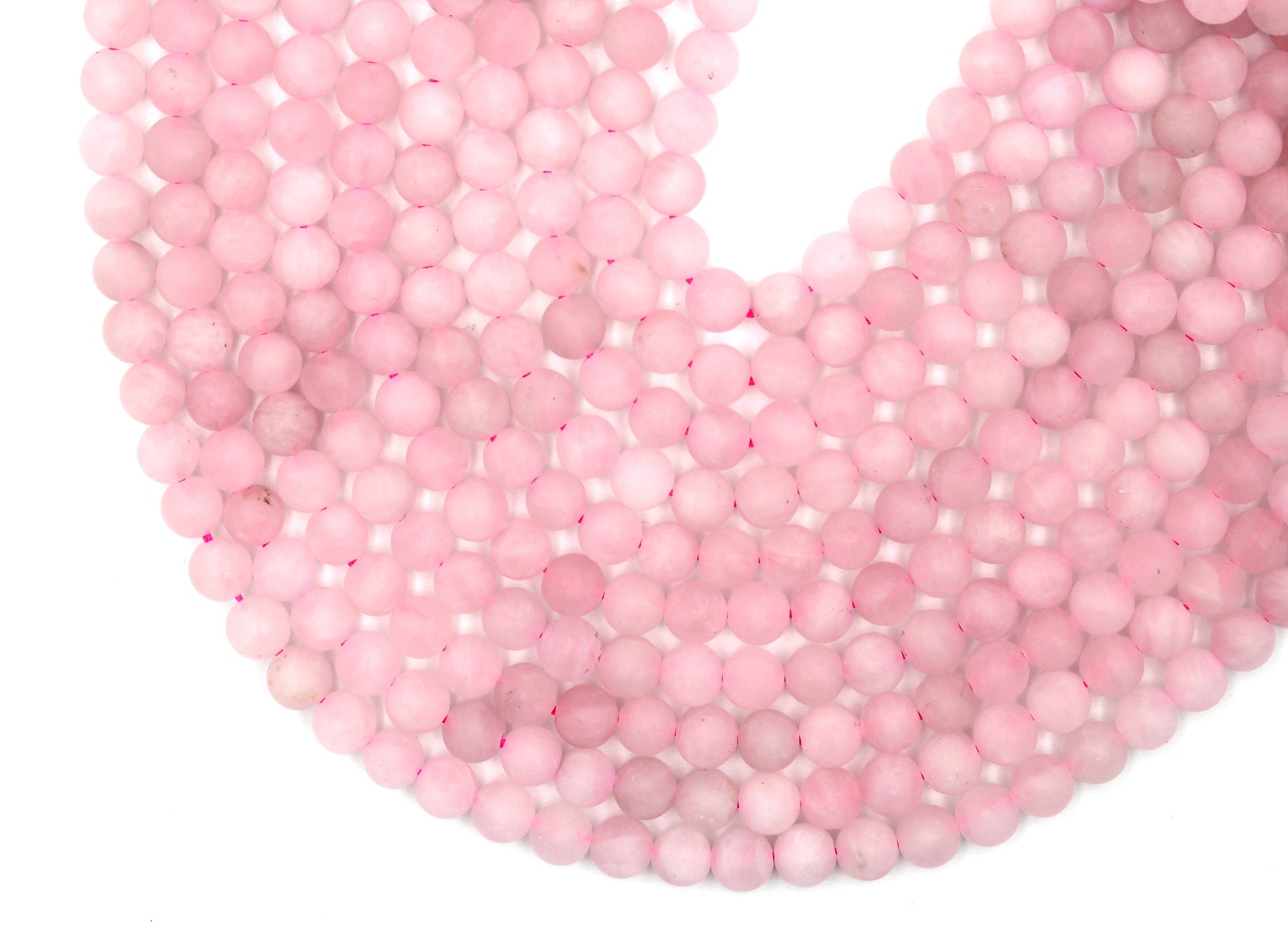 Rose Quartz Gemstone Beads, 6mm, Round, Matte Beads