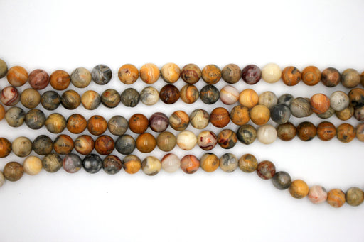 8mm crazy lace agate, glossy, 1 strand, 16 inches, approx. 48 beads.