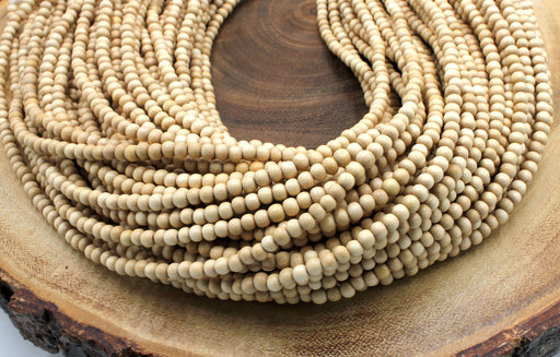 4mm white wood beads