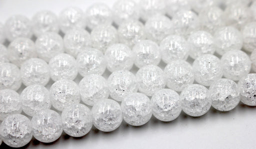 8mm cracked agate beads, Crystal Matte Finish Rounds, crystal beads, jewelry beads, clear beads, agate beads, Cracked Crystal Quartz Beads,