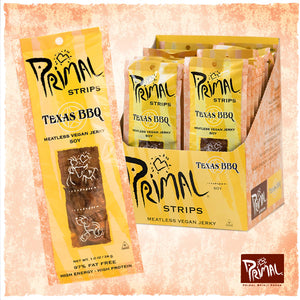 PRIMAL SPIRIT FOODS Meatless Vegan Jerky Texas BBQ