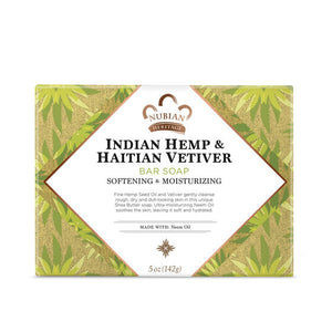 Nubian Heritage Indian Hemp and Haitian Vetiver Bar Soap