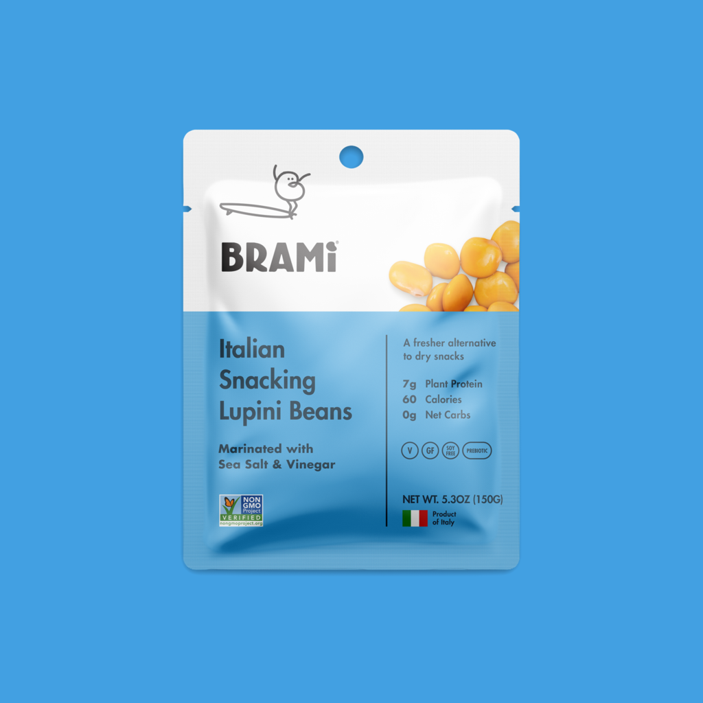 Brami Sea Salt Vinegar Snack Lupini Beans