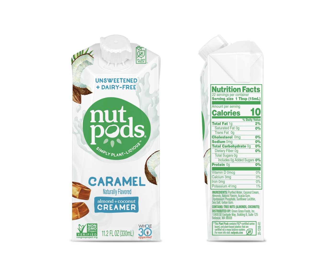 NutPods Unsweetened Dairy Free Caramel Flavoured Creamer