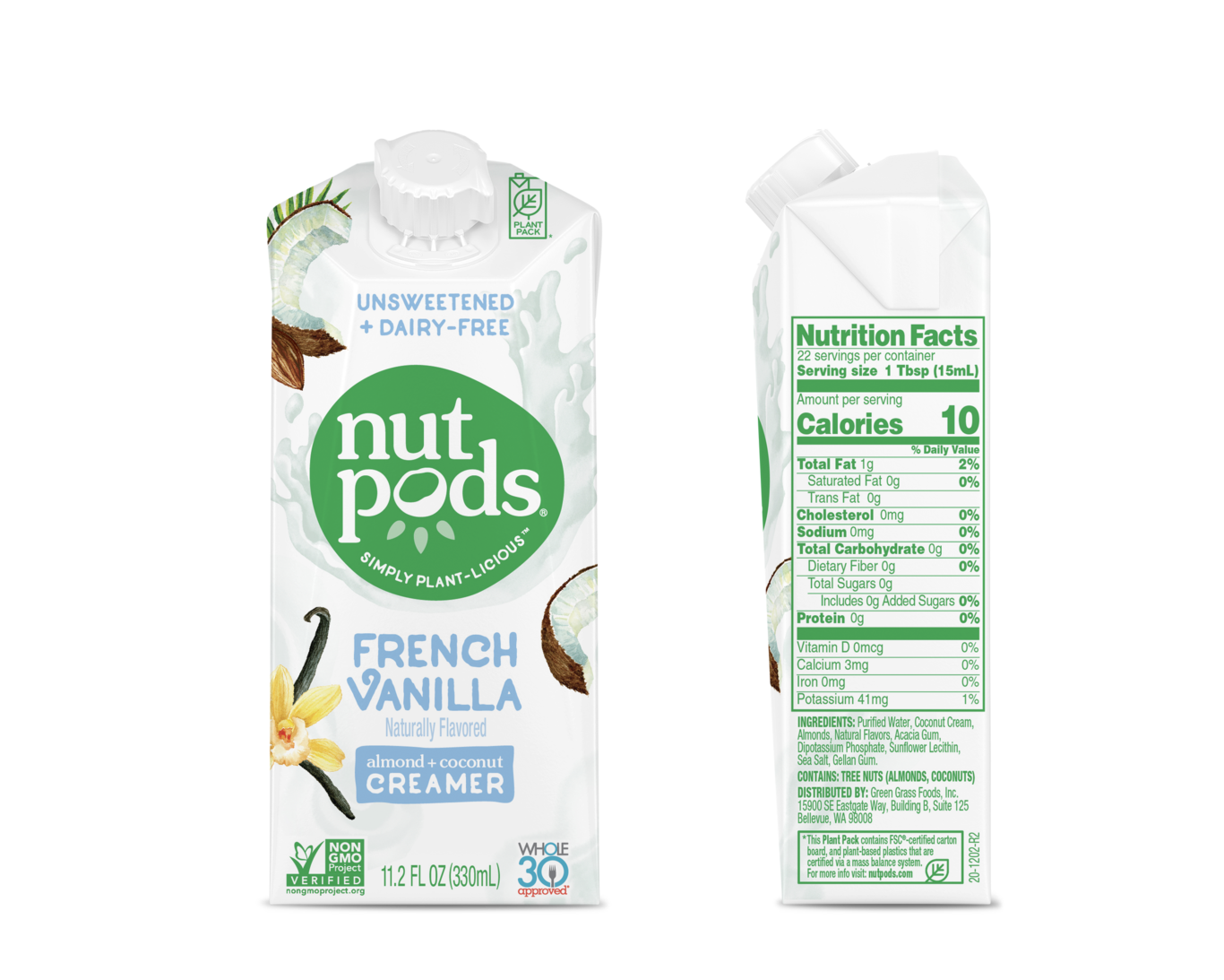 NutPods Unsweetened Dairy Free French Vanilla Flavoured Creamer