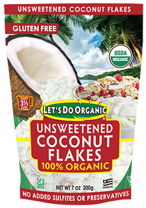 Let's Do Organic Unsweetend Coconut Flakes