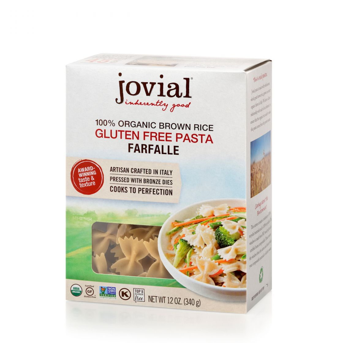 Jovial Organic Brown Rice Farfallae