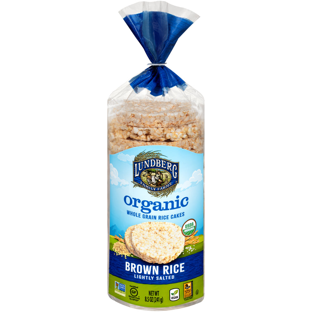 Lundberg Family Farms Organic Brown Rice Cake Lightly Salted