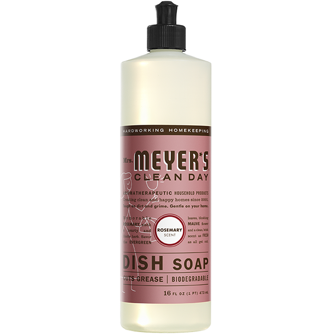 Mrs. Myer's Liquid Dish Soap Rosemary