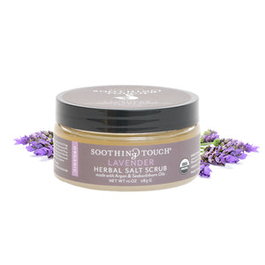 Ayurveda Soothing Touch Lavender Herbal Salt Scrub