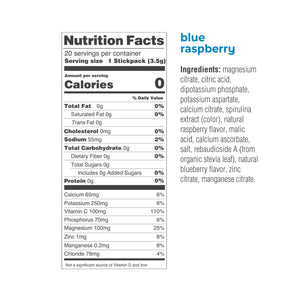 Ultima Replenisher Blue Rasberry electrolyte drink mix
