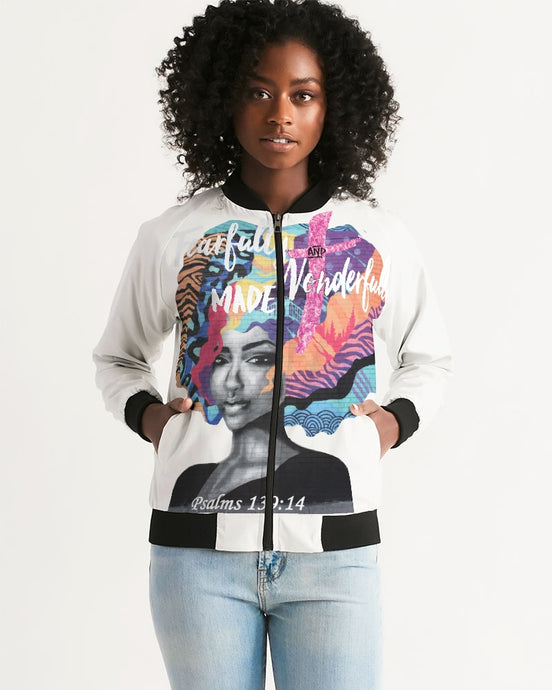 Fearfully and Wonderfully Made Women's Bomber Jacket