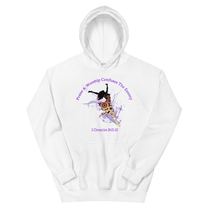 Praise & Worship Confuses the Enemy Women's Hoodie