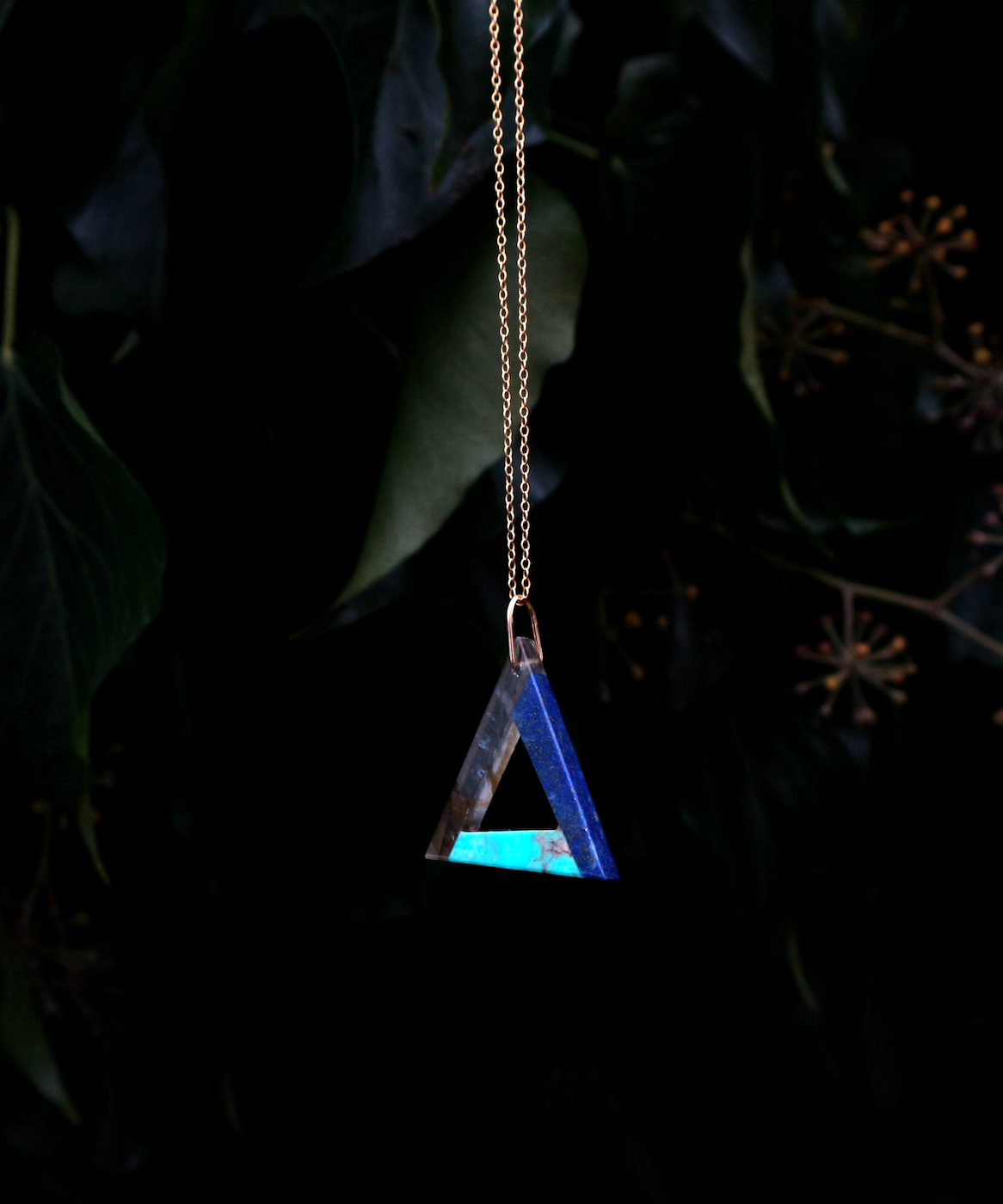 Turquise, Labradorite and Lapiz ∞ Stone necklace