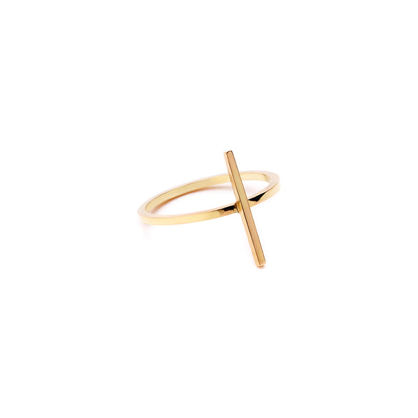 The Classic Bar Ring 18Ct Gold