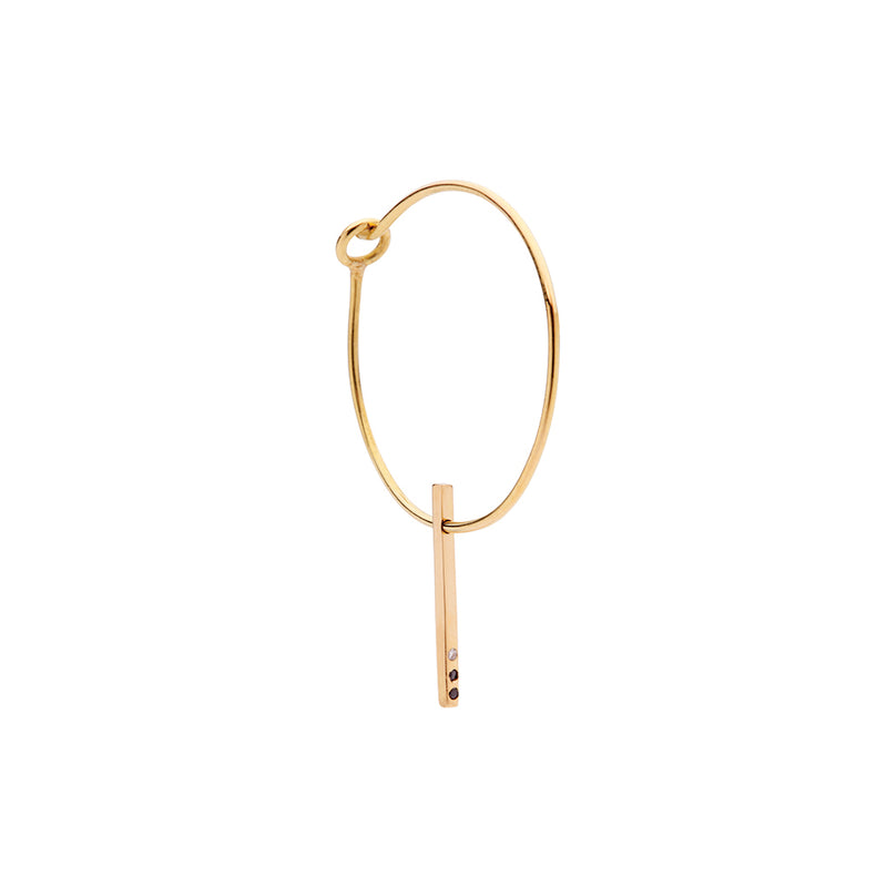 CLASSIC Small Hoop 18Ct Gold with Diamonds