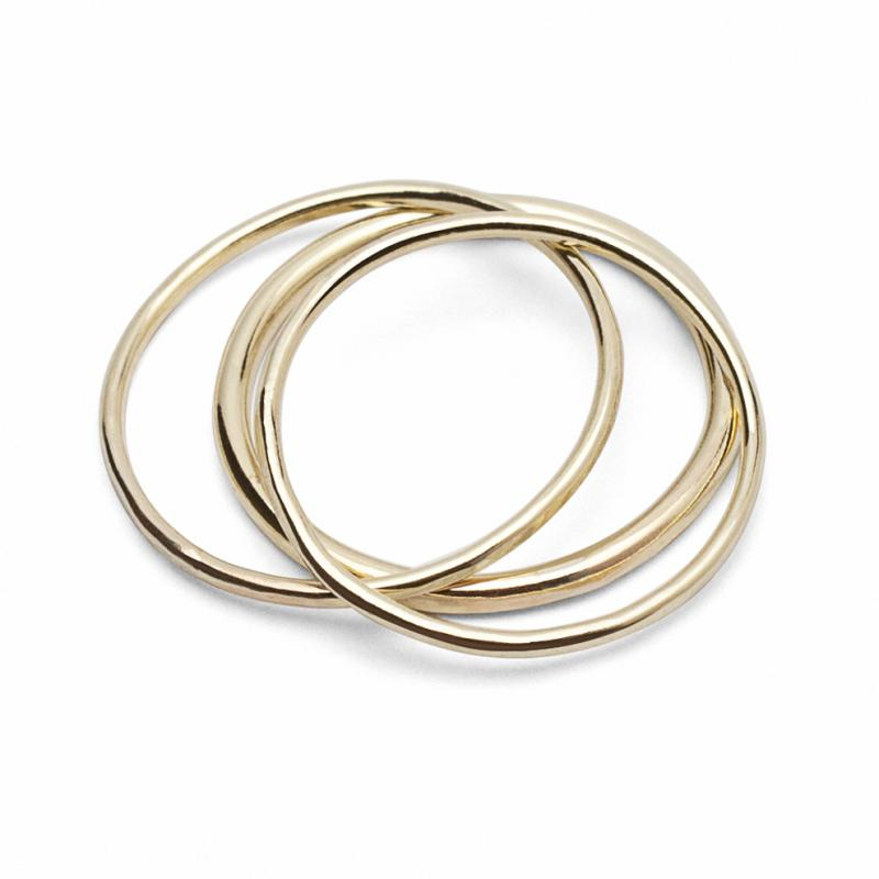 CLASSIC Stacker Rings 18Ct Gold - Set of 3