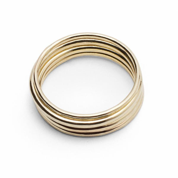 CLASSIC Stacker Rings 18 Ct Gold - Set of 4