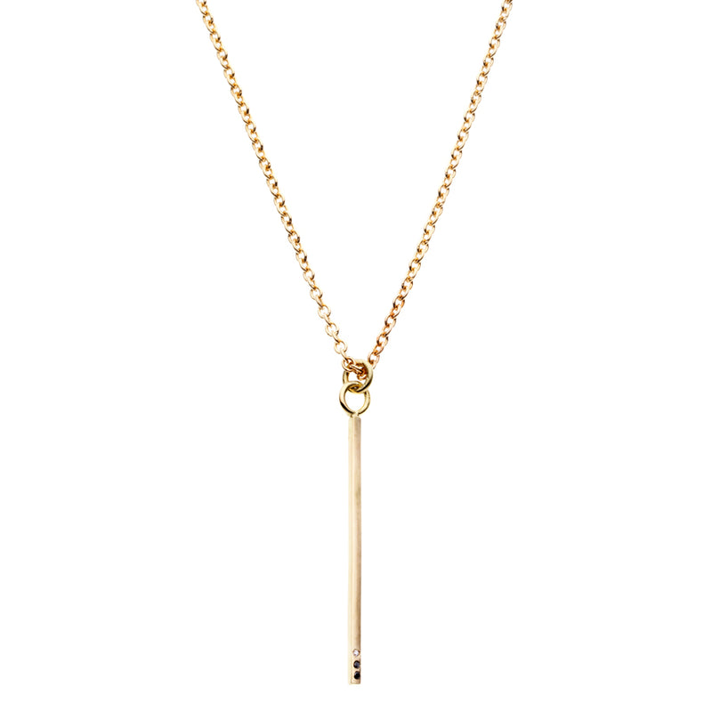 The Classic Bar 18Ct Gold Necklace with Diamonds