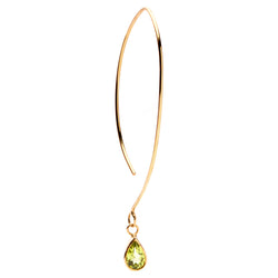FAVOURITES Essence Earring 18Ct Gold with Peridot