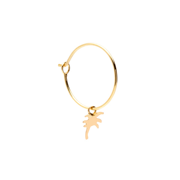 Sunrise Hoop 18Ct Gold Earring
