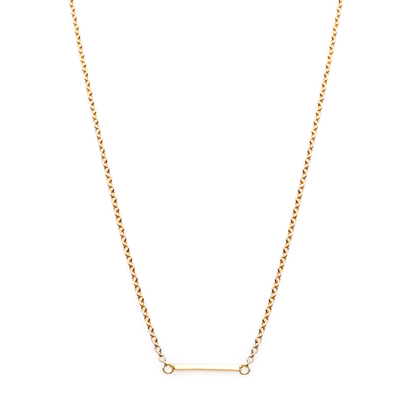 The Classic Bar Necklace 18Ct Gold