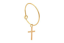 CLASSIC Gold Hoop with Natalia Gold Cross Large