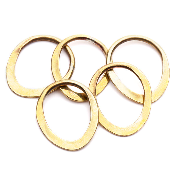 BRASS La Vie Rings Unstamped - Set of Five