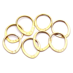 BRASS La Vie Rings Stamped - Full Set
