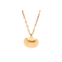 OCEANIA Ark Necklace Large Gold Plate