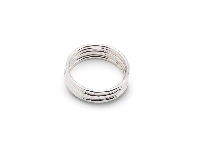 CLASSIC Stacker Rings Silver - Set of 5