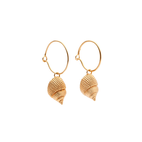 OCEANIA Whelk Hoops 18Ct Gold Plated
