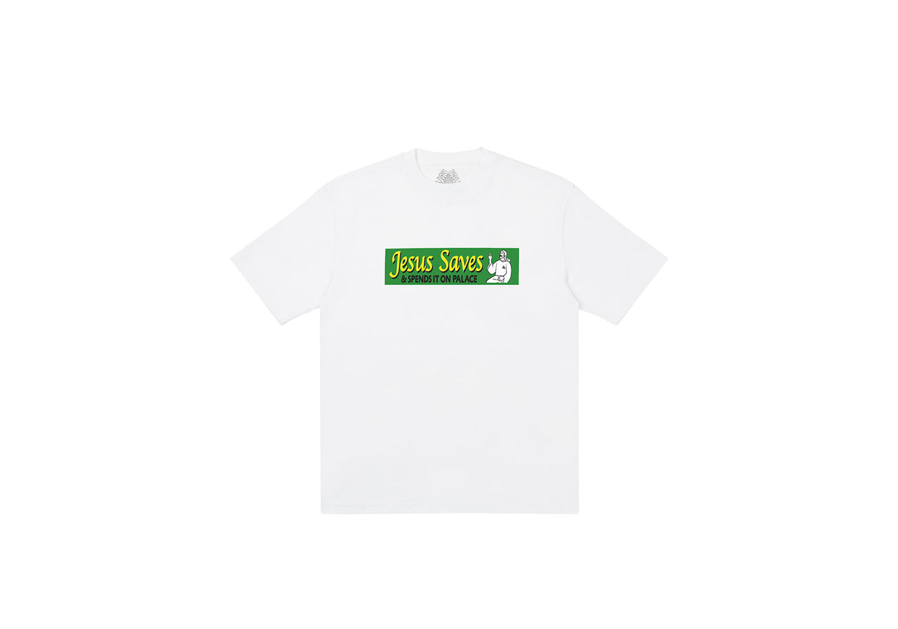 JESUS SAVES T-SHIRT WHITE