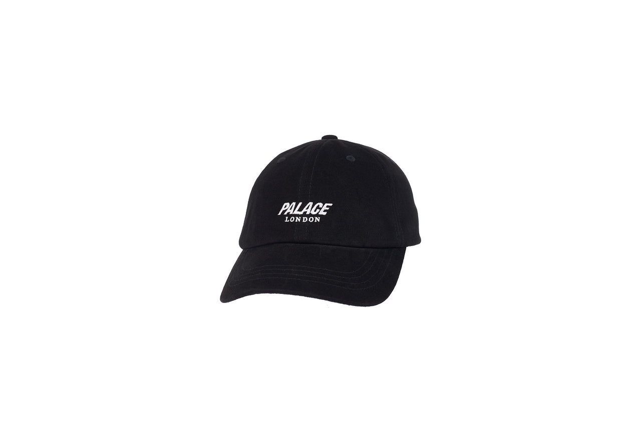 LEATHER STRAP 6-PANEL BLACK