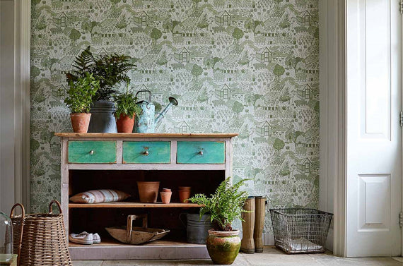 Sanderson Potting Room Wallpaper Collection